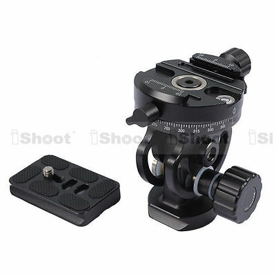 2D Panoramic Panorama Ball Head + Quick Release Plate for Camera Tripod Monopod