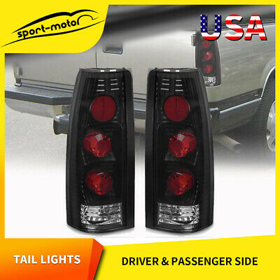 For 1988-1998 Chevy GMC CK 1500 2500 3500 Altezza Pair Tail Lights Housing