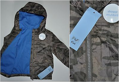 F&F BABY BOY AUTUMN HOODED JACKET LIGHTWEIGHT COAT 12-18 MONTHS 86cm NEW