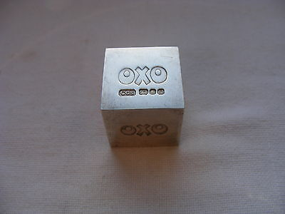 Very Rare Solid Sterling Silver Oxo Cube  London 1978 CGS