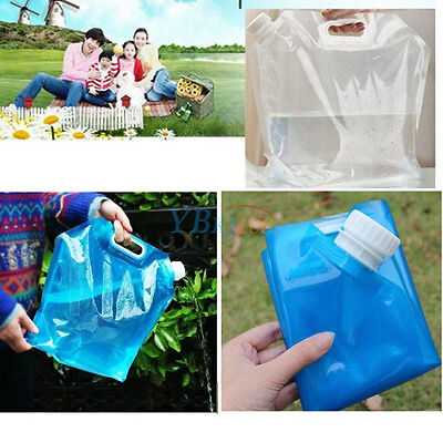 10L Foldable Drinking Water Container Storage Bag For Camping Survival Picnic AM