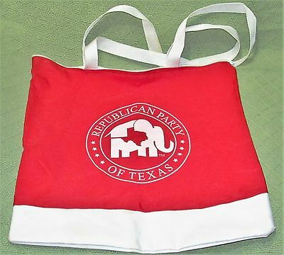 2008 Republican Party of TEXAS C-Span Cable Campaign Red & White Tote ZIPPERED