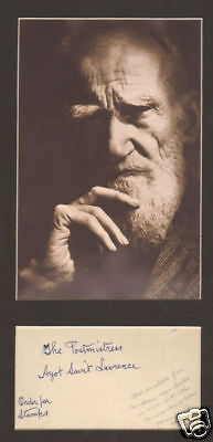 George Bernard Shaw, Autograph note+pic display+MORE