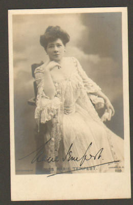 MARIE TEMPEST vintage signed photo /postcard UACCRD