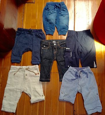 6 x Baby Boys Jeans And Pants Mixed Size Bundle