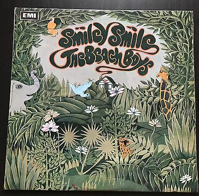 "The Beach Boys Smiley Smile Capitol First Press T 9001 12"" Lp Vinyl Surf 1967"