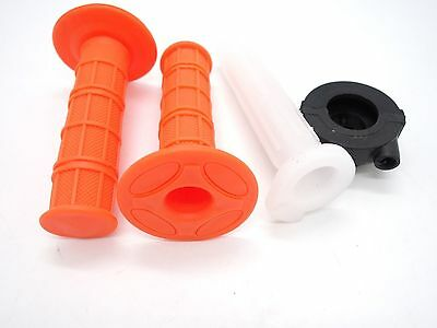 Orange Twist Throttle Hand Grips + Tube + Housing 50cc-140cc ATV Dirt Pit Bike