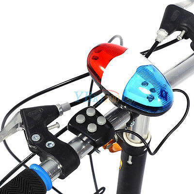 4 Sounds 6 LED Electric Horn Bell  Police Car Siren For Bicycle Bike Cycling DY