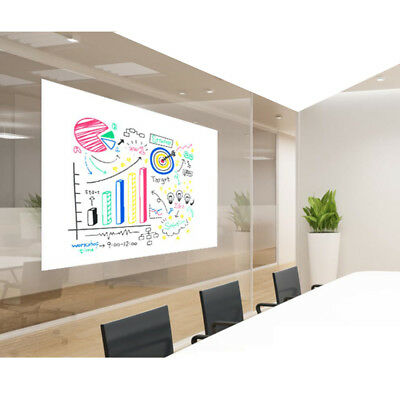 "60""x20"" Removable & Repositionable Dry Erase White Board Sheet/Film-Gloss"