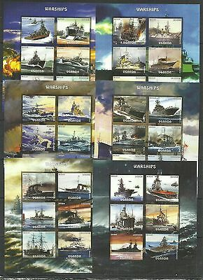 6pcs Transport Ships Warships imperf. 2016  (pr.issue) / W36