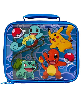 New Pokemon Soft Lunch Box Anime Pinbacks Bobbles Lunchboxes Toy Game Gift