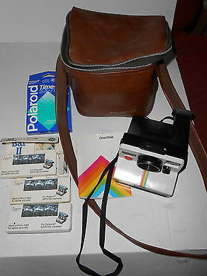 Polaroid Vintage Onestep Camera W/bag & Accessories & Directions
