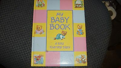 My Baby Book A First Five Year Diary Record Book Ideal Present Gift
