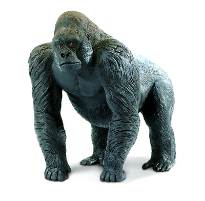 Safari Wildlife Wonders Statues Silverback Gorilla Kids Child Play Toy Gift