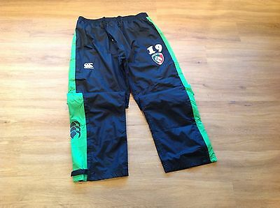 Leicester Tigers. Player Issue. Waterproof Tracksuit Bottoms. Used. 2XL