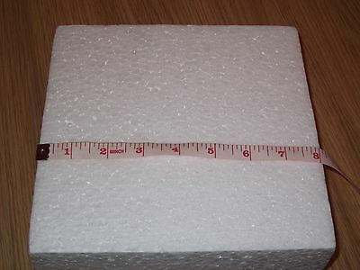 8 inch square polystyrene cake former