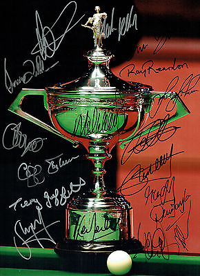 78 #  Multisigned X17 Snooker Champions  A4 Photograph Reprint~~~~~~~~~~~