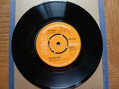 "The Sweet - Blockbuster/Need a Lot of Lovin'  - 7"" single - 1973"