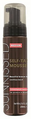 Sunkissed Instant Self Tanning Mousse 200ml - Medium Bronze - New