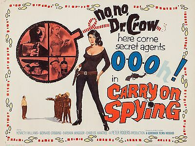 """Carry on Spying 16"""" x 12"""" Reproduction Movie Poster Photograph 2"""