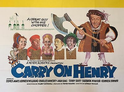 """Carry on Henry 16"""" x 12"""" Reproduction Movie Poster Photograph"""