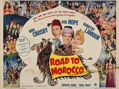 """Road to Morocco 16"""" x 12"""" Reproduction Movie Poster Photograph"""