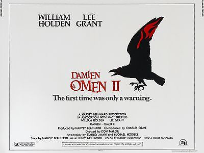 """The Omen 2 16"""" x 12"""" Reproduction Movie Poster Photograph"""