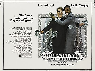 """Trading Places 16"""" x 12"""" Reproduction Movie Poster Photograph"""