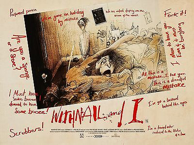 """Withnail and I 16"""" x 12"""" Reproduction Movie Poster Photograph"""