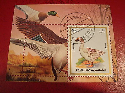 Fujeira - 1973 Goose - Minisheet - Unmounted Used - Ex. Condition