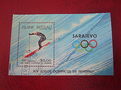 Guinea-Bissau - 1983 Winter Olympic - Minisheet - Unmounted Used - Ex. Condition