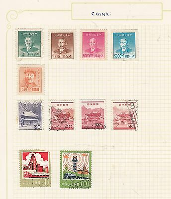 CHINA /JAPAN Small Lot on Album Page MINT/USED