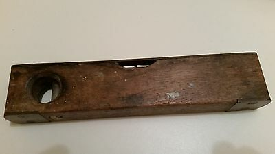 """Vintage Small BRASS & Wood 8"""" LEVEL"""