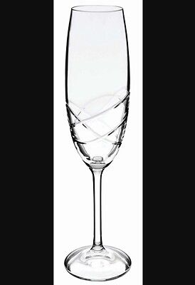 Bohemia Crystal Champagne Flutes Glasses Set Of 6 In Box RRP $99.99