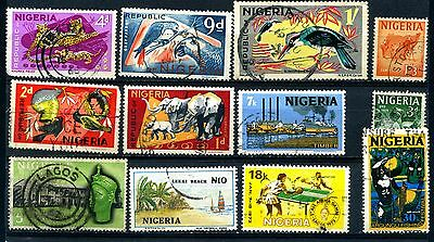 NIGERIA selection of 12 used stamps 1961 to 1992