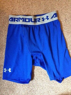 Under Armour Mens Compression Under Shorts Blue Size Small