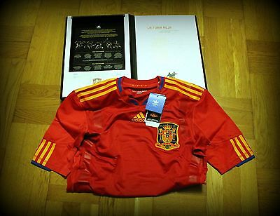 España Camiseta ,spain Shirt World Cup 2010 - Adidas Techfit Player Issue In Box