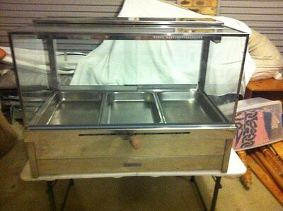 Roband Square Glass Hot Food Display S23 Bain Marie