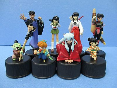 Inuyasha Inu Yasha BOTTLE CAP FIGURE Collection set of 8 pcs VERY RARE