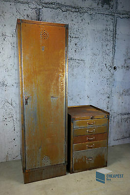 Metall-Spind + Schrank, Loft Möbel Steel Locker Industriedesign shabby rust look