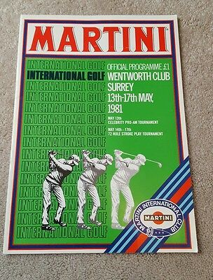 Golf International. Wentworth 1981 programme