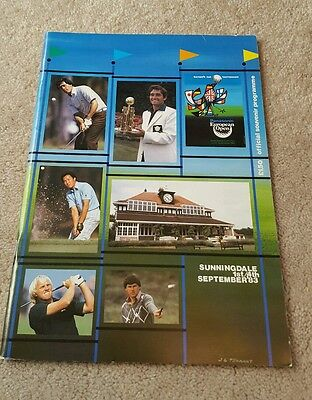 Golf European open 1983 Sunningdale programme