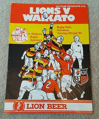 British lions v Waikato 1983 rugby union programme