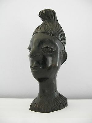 Heavy Vintage Hardwood African Carving of Man