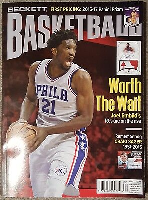 Beckett Basketball Card Price Guide FEBRUARY Issue Joel Embiid Cover