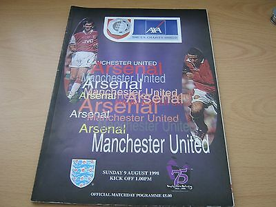 Manchester United v Arsenal - FA Charity Shield - 09 August 1998