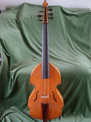 Fine English 6 String Bass Viol By D W Holden 1977