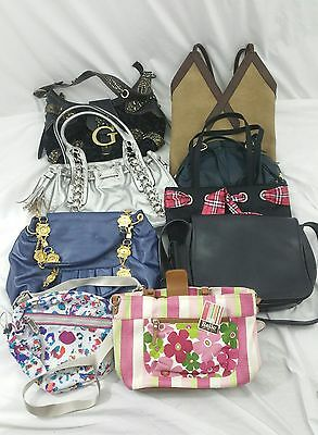 Purse lot of 9 authentic & designer inspired lot of 9 EUC various brands