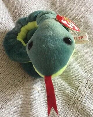 ty beanie baby Rare 'Hissy' The Snake (misprinted & Numbered)