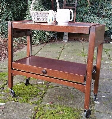 Mid Century Industrial Tea Trolley Which Easily Converts To A Table